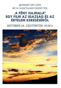 Film Premier @ Tranzit ART CAFÉ 2019. okt. 24. 19:00 h