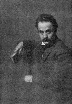 Kahlil Gibran, Fénykép megjelent al-Funun 1, no. 1 (April 1913) Forrás: http://www.al-funun.org/al-funun/images/gibran.html Wikimedia Commons