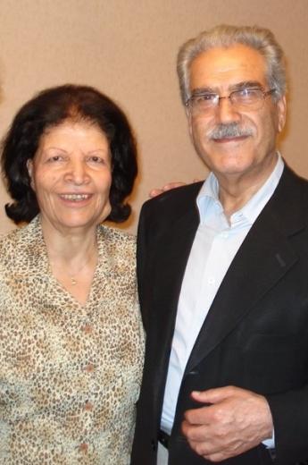 Ashraf Khanjani, férjével Jamaloddin Khanjanival. Khanjani asszony 2011. március 10-én hunyt el 81 éves korában. A házaspár több mint 50 évig élt házasságban. © Bahá'í World News Service news.bahai.org