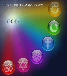 A bahá'í alapelvek közül az egyik legbékésebb: a vallások egysége, miszerint ugyanaz az Isten, több Fénysugáron keresztül sugározta a fényt. (c) Baha'is of the United States www.bahai.us