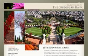 Az új honlapon elérhetők a túrák részletei, nyitvatartási idő és információ a bahá'í kertek és szentélyek látogatásáról.