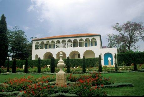 Bahá'u'lláh udvarháza, ahol 1879 szeptemberétől haláláig élt (Bahji, Izrael) (c) Bahá'í Nemzetközi Közösség media.bahai.org