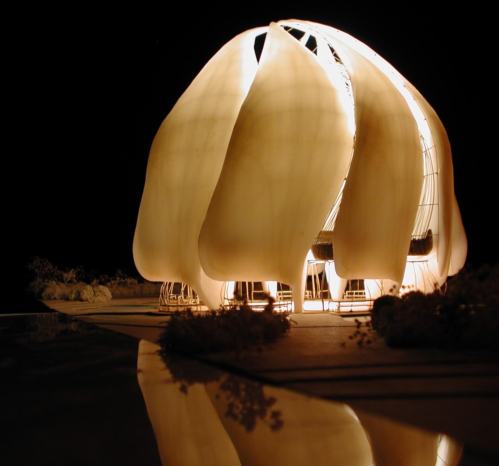 Az épülő chilei bahá'í templom makettja (c) Bahá'í Nemzetközi Közösség www.bahai.org