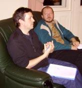 Bahá'í-ok tanácskozás közben (Debrecen, 2006)