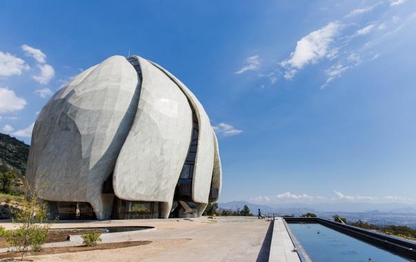 A chilei templom, a fény temploma © Bahá'í Nemzetközi Hírszolgálat news.bahai.org