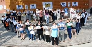 """Az """"Öt év túl sok"""" nemzetközi kampány budapesti rendezvénye a Millenárison"""