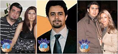 A 2010. január 3-án letartóztatott 10 iráni bahá'í közül öten, köztük két házaspár – az iráni Emberi Jogok Riportőrei Bizottsága (Committee of Human Rights Reporters) fotói és beazonosítása alapján