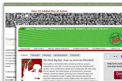 Két honlap a 2010. június 12-i akciónap beharangozói közül