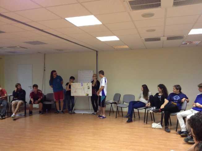 A kiscsoportokban elsajátított képességek megosztása (Képességfejlesztő tábor 2014)