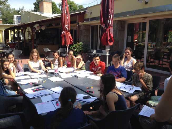 Vidám hangulatú tanulás a képességfejlesztő táborban