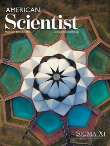 American Scientist 2012. november-decemberi számának címlapján az indiai Lótusz templom. kép forrása: American Scientist facebook oldala