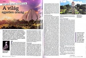 A Nők Lapja cikke: A világ egyetlen ország… – Egy szelíd vallás hódító útja. 2016. április 27. (17. szám) 80-81. oldal