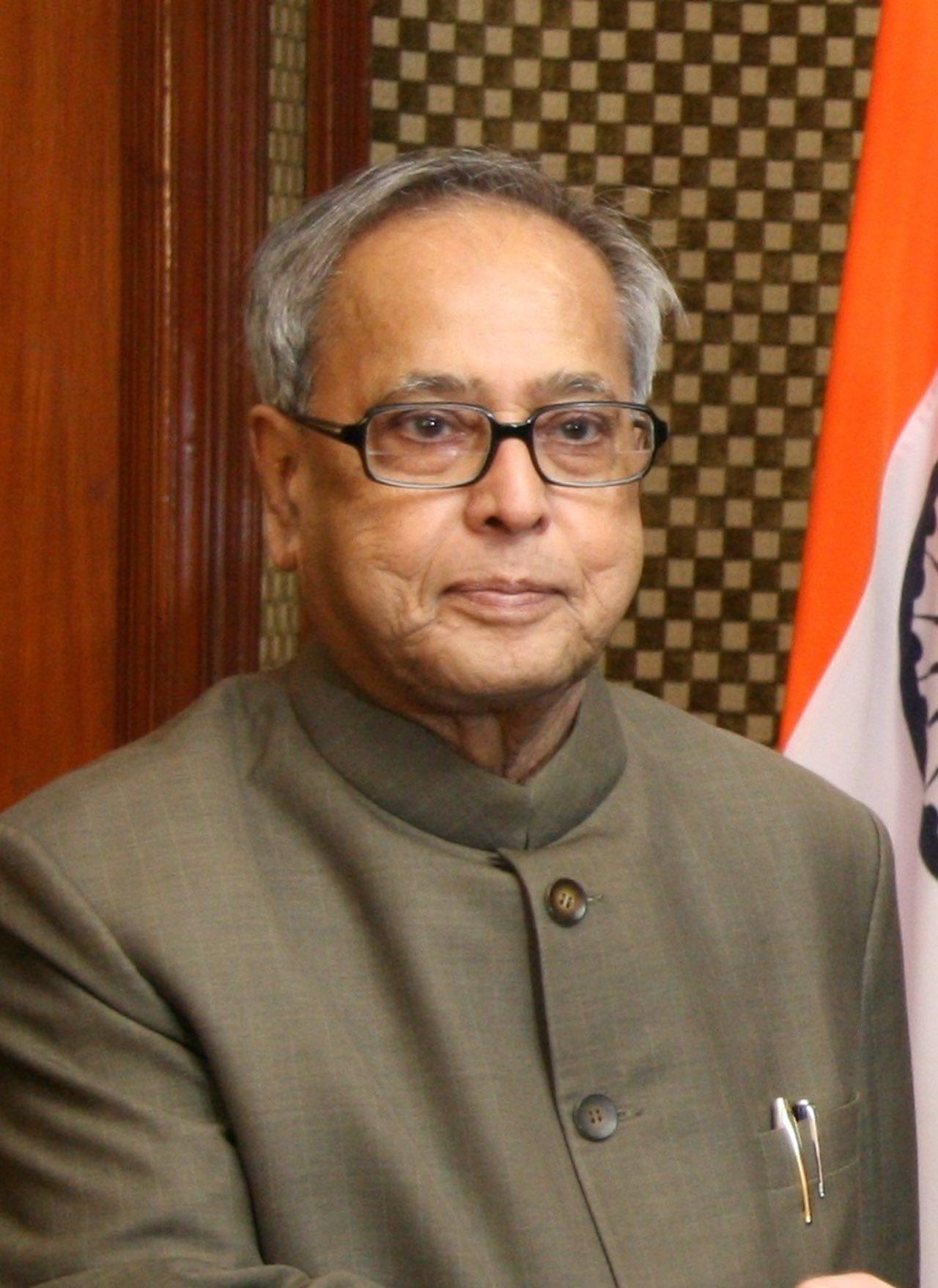 Őexcellenciája Pranab Mukherjee, India elnöke (c) USA Nagykövetsége Delhiben