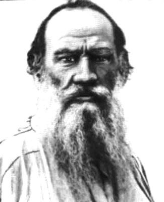 Rövid idézet Lev Tolsztoj írótól. Kép: Ismeretlen szerző [közkincs], via Wikimedia Commons
