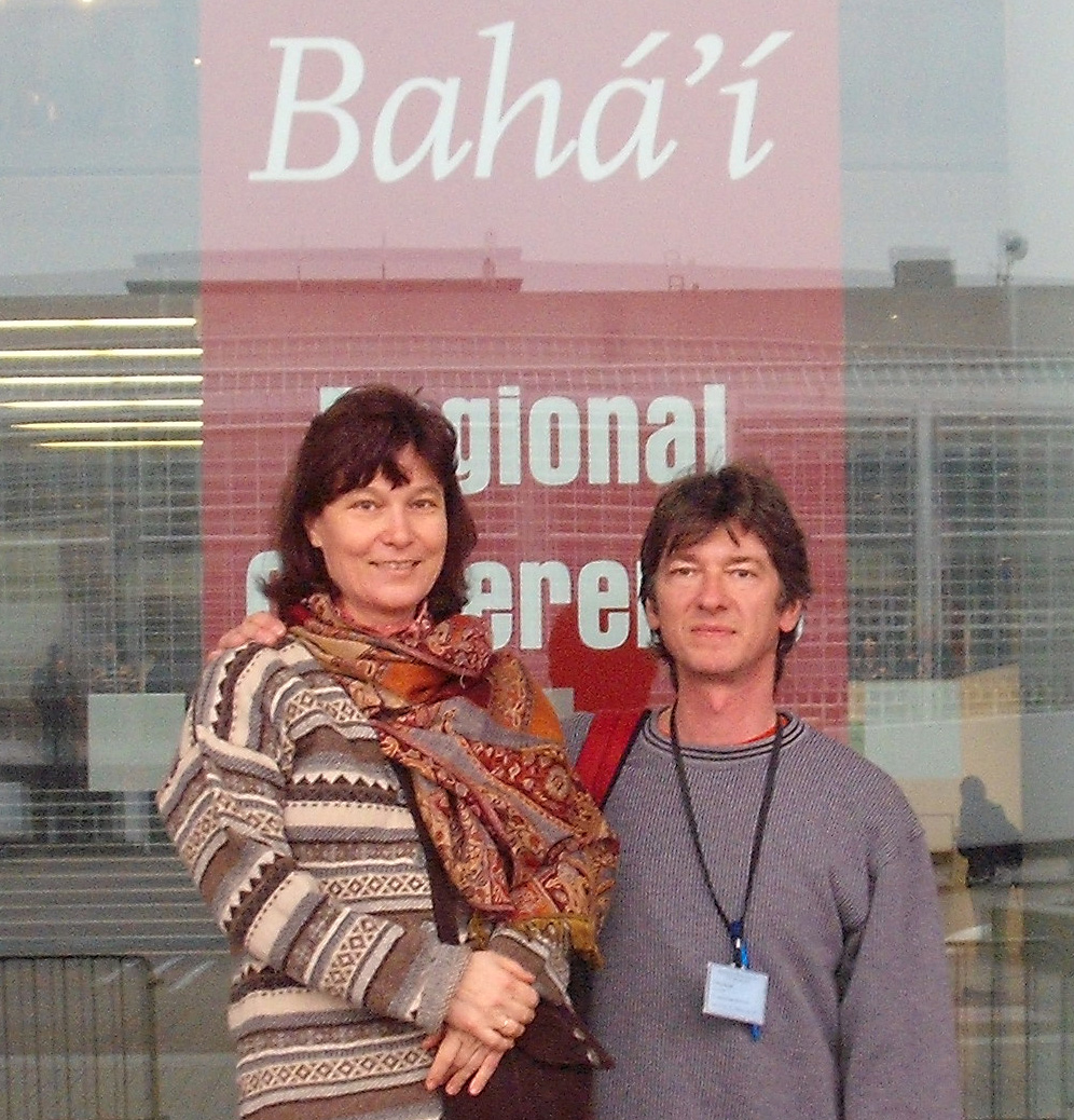 Melegh Marika és férje a frankfurti bahá'í konferencián