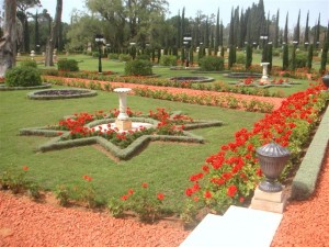 Az akkói szép kert részlete (c) Magyarországi Bahá'í Közösség www.bahai.hu