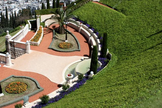 A szép kertek egyik felső terasza