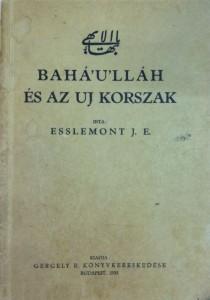 Bahá'u'lláh és az új korszak című könyv első kiadásának (1933) borítója